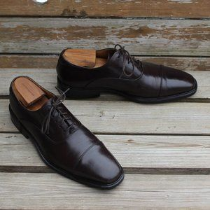 Cole Haan Brown Leather Cap Toe Oxford, Men's 10.5